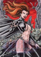 Goblin Queen Sketch Card by tonyperna