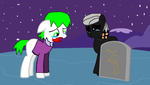 Pony Joker at the grave of Jeannie Napiar by bettybop920