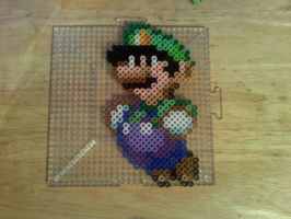 Luigi perler by dylrocks95
