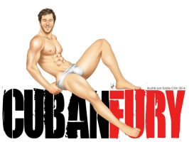 Male Pinup: Chris O'Dowd-inspired poster CubanFury by eddiechin