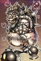 BOMBS AWAY BOWSER by telegrafixs