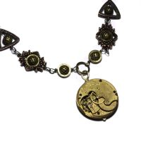 Steampunk Necklace Brass by CatherinetteRings