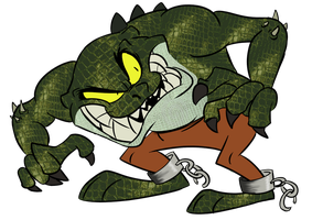 Killer Croc of Tazmania by Winter-Freak