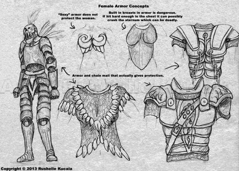 Female Armor Concepts by TheDragonofDoom