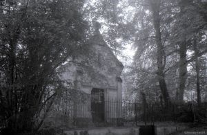 Old Church in the forest by Gloomyswirl