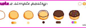 Tutorial: How to make a simple Pixel Pastry by JessicaCasciotta88
