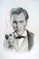 Peter Cushing (The Hound of the Baskervilles) by Pidimoro