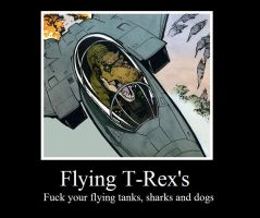 Flying T-rexes by Mixmaster900