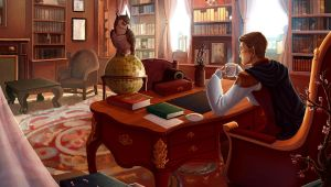 Julian's Study by painted-bees