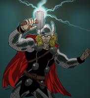 Mighty Thor  color by illahstrait