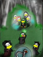 The Forest Again Penguins by dancephd
