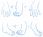 Furry Hands and Feet by lionsilverwolf