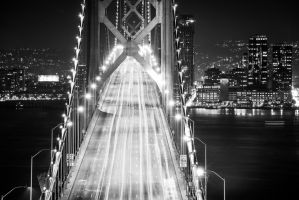 Bay Bridge to San Francisco by alierturk