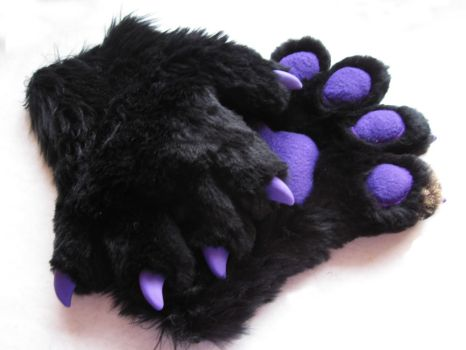 Purple and Black Paw Gloves by Rebeccannoying