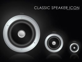 classic speaker icon by bisiobisio