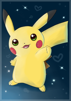 .:Cute Pikachu:. by Mizzi-Cat