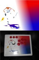 White Devil- Arcade stick by Zakenna