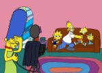 A Simpsons Family Portrait by WaggonerCartoons