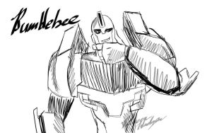 REQUEST: Bumblebee Sketch by RebeccaHudgens