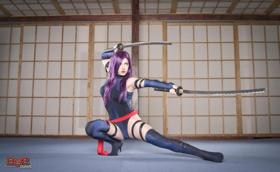 Psylocke in Training by Miracole