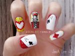 Poker Nails by jeealee