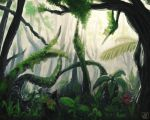 Rainforest study. by meriimerodii