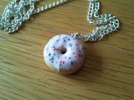 Cute polymer clay donut necklace by AliceCharms
