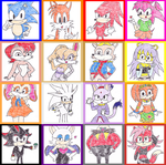 Random Retro Style Sonic Characters by P-Manwag