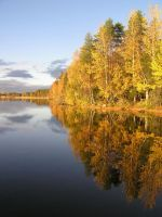 Autumn lake by eikei-stock