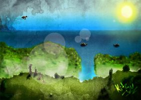 Land - Forest_Sea by Kitsu-DR