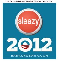 Obama Sleazy Button Logo by Conservatoons
