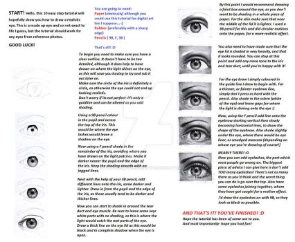 realistic pencil eye tutorial. by Art-from-the-heart-x
