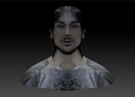 Nate's 3D Self Portrait Textured Front by Natefurry