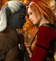 Drizzt and Catti-brie :: DAZ + LUX Render by DrowElfMorwen