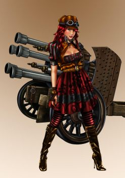 Steampunk canon chic by ochie4