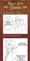 + How to draw Braids + by VonHollde