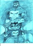 Punisher and Rocket Raccoon by MisterHydesSon