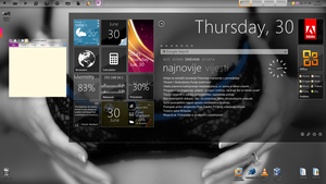 My Windows 7 desktop by DaveNightfall
