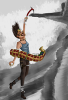 Serqet invading Tomb Raider by theladywithglasses