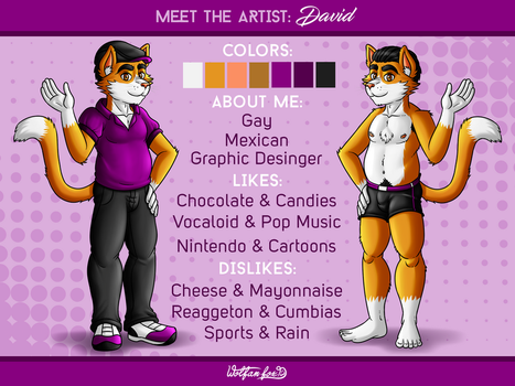 Know me: David -Meet the artist- by Wolfan-foxD