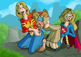 Supergirl and Wondergirl pic 1 by JinksLizard