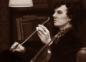 Sherlock - Violin by beth193