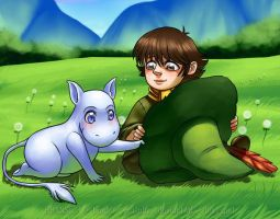 Baby Moomin and Toddler Snufkin by Bhansith