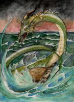 Rage of the Sea Dragon. by Graveyard-Keeper