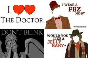 Doctor Who postcards by Segreant