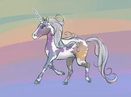 Rainbow Paint Unicorn by mazil