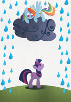 Rainy Day Friends by PixelKitties