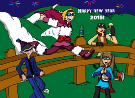 HAPPY NEW YEAR 2015 - Sheep Setback by Retro7