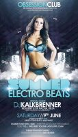 Summer Electro Beats Flyer PSD Template by outlawv15