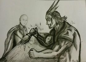 Saitama vs All might, battle of heroes!! by sharaizx